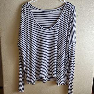 Brandy Melville Long Sleeve Striped Knit Tee Shirt